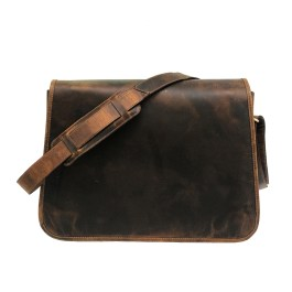 Zakara Hunter Leather Messenger Bag