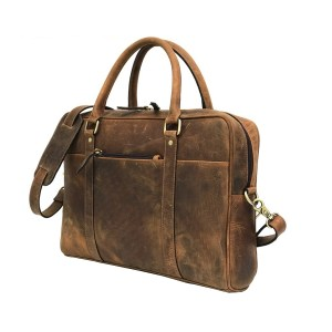 Brown Genuine Vintage Leather Laptop Bag