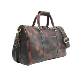Genuine Hunter Brown Leather Gym Bag