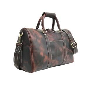 Genuine Hunter Brown Leather Gym Bag