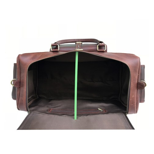 Zakara Leather Luggage Bag