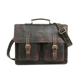 Genuine Leather Laptop Portfolio Bag