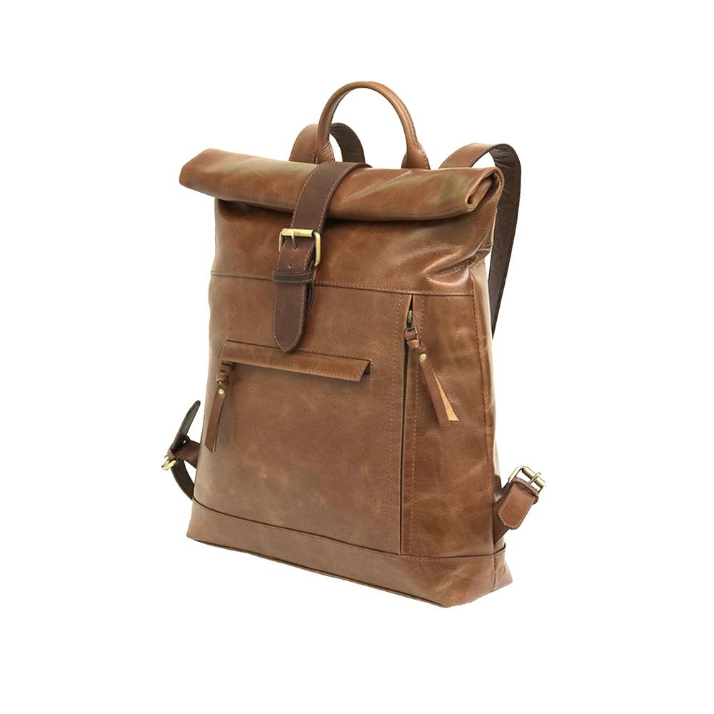 Zakara Leather Tracking Backpack