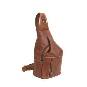 Genuine Rustic Brown Large Leather Chest Bag