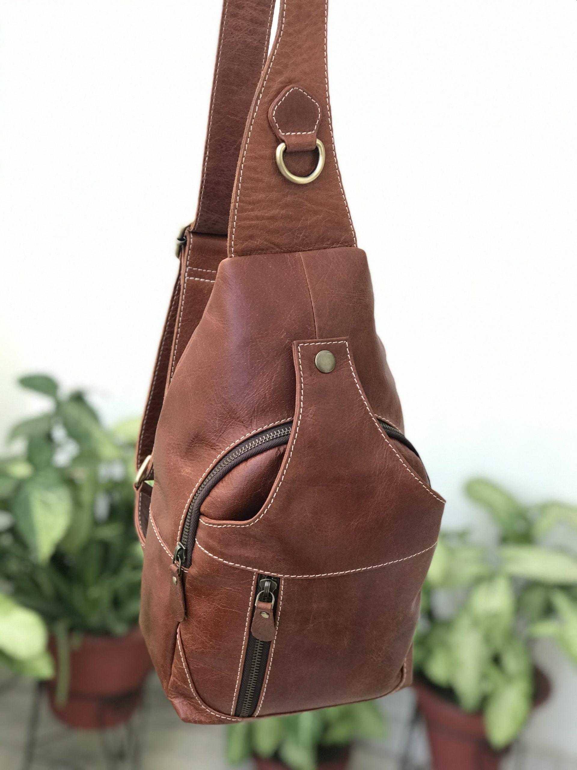 Zakara Leather Chest Bag