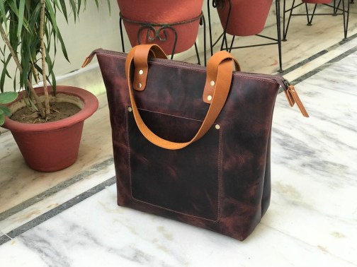 Zakara Leather Tote Bag
