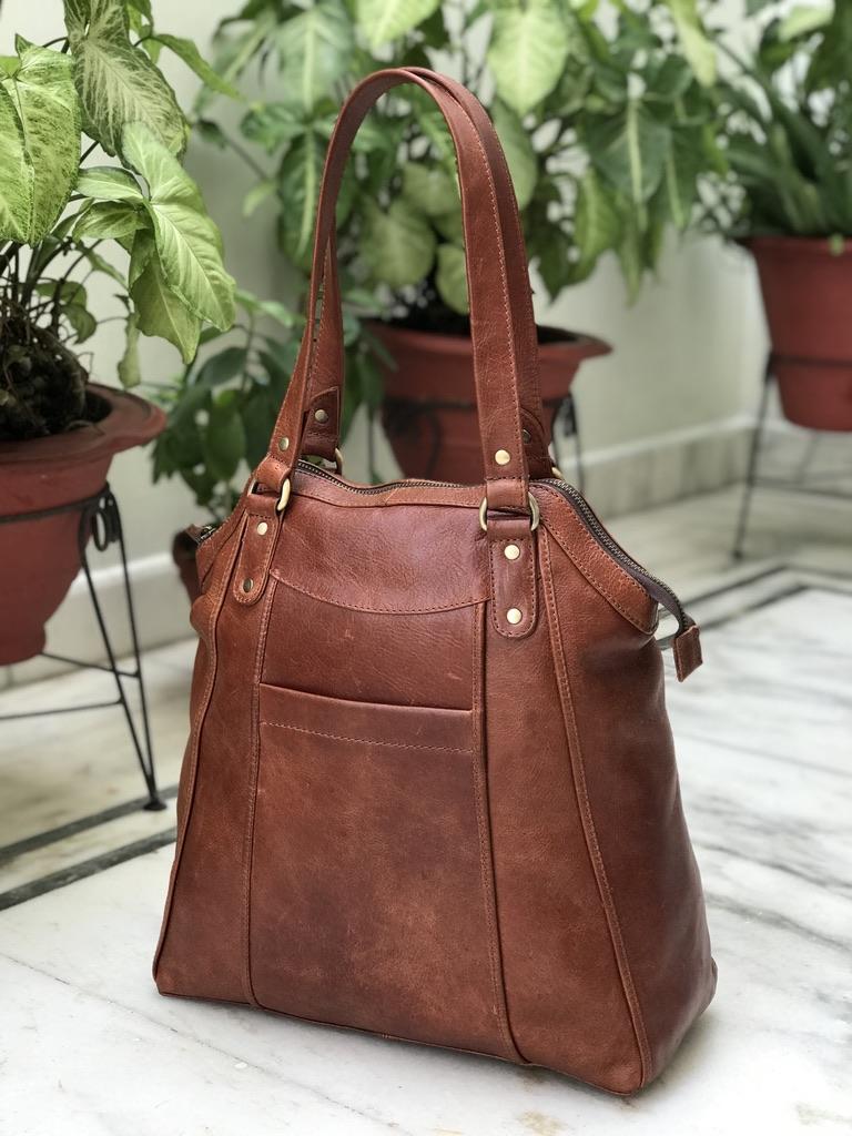 Zakara Leather Large Tote Bag