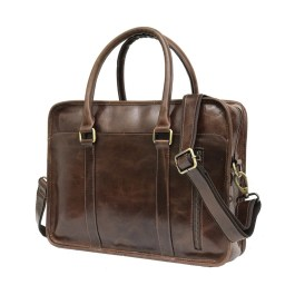 Genuine Buffalo Leather Laptop Bag