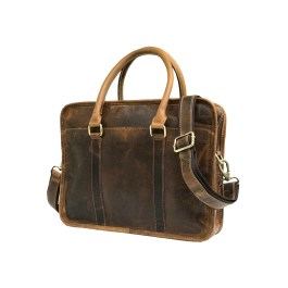 Hunter Brown Buffalo Leather Laptop Bag