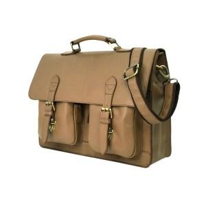 Soft Leather Beige Color Briefcase Bag