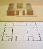 plattegrond en schetsmaquette