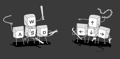 wasd-vs-up-down-left-right