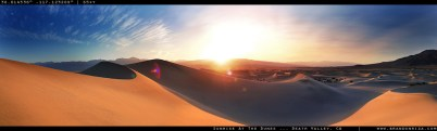 """""""Sunrise Over The Dunes At Death Valley."""""""