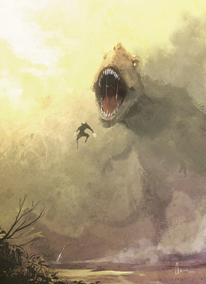 wolverine_vs_t_rex_by_njoo