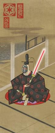 estampe japonaise starwars dark vador