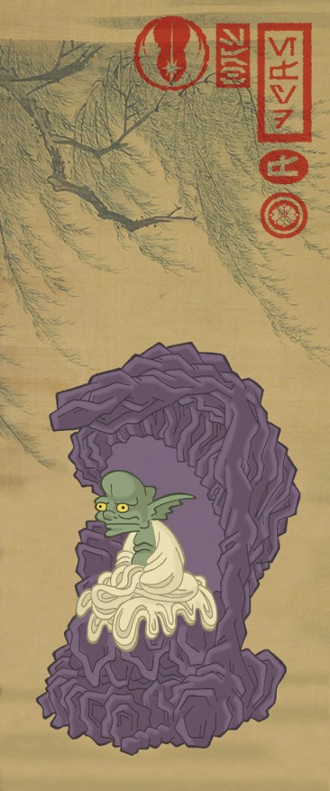 estampe japonaise starwars yoda