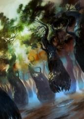 magic illustration Lands of Zendikar Forest