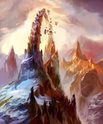 magic illustration Lands of Zendikar Mountain