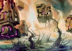 magic illustration Rise of Eldrazi Swamp 2