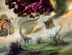 magic illustration Rise of Eldrazi Swamp 3
