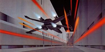 star wars concept-ralph mcquarrie-xwing couloir