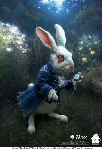 alice - lapin montre