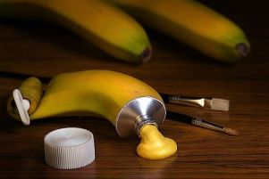 banane peinture