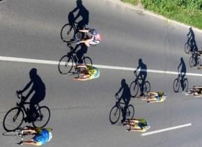 ombre cycliste