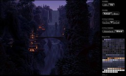 2010-07-26_html5 8bit animation chateau cascade nuit