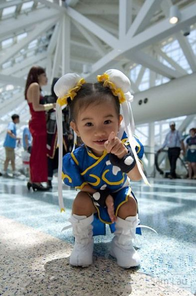 mini chun li cosplay