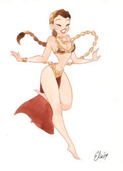 princesse leia cartoon