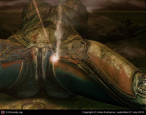 giger style 3d