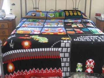 couverture lit mario