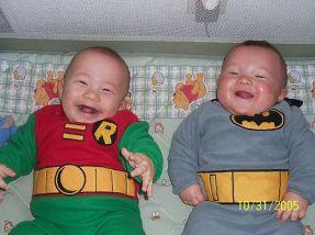 bebe batman et robin