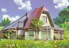 ghibli fond peinture-totoro fond maison