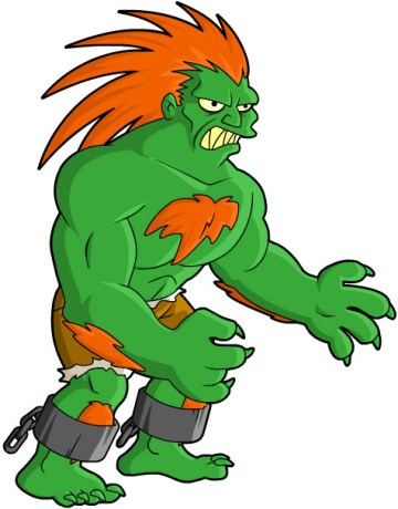street fighter simpson blanka