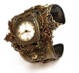 Horloge Montre Steampunk Steampunk_Watch_Cuff___Floral_by_Aranwen