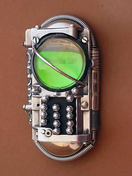 Horloge Montre Steampunk steampunk-telephone