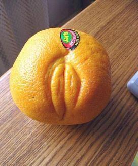 panneau image insolite orange sexe