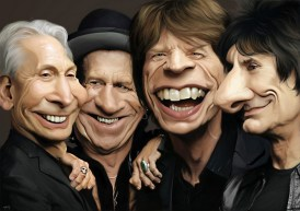 the_rolling_stones caricatures