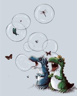 bubble bobble dino bulles