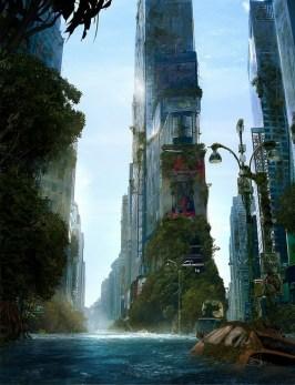 new york envahi par plantes eaux