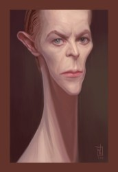 caricature - david bowie