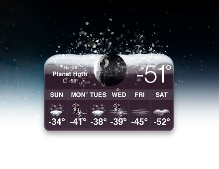 hoth meteo widget star wars