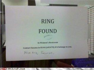 ring found sauron
