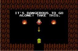 zelda - its dangerous to go alone take this - nes