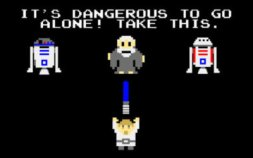 zelda - its dangerous to go alone take this - star wars pixel art