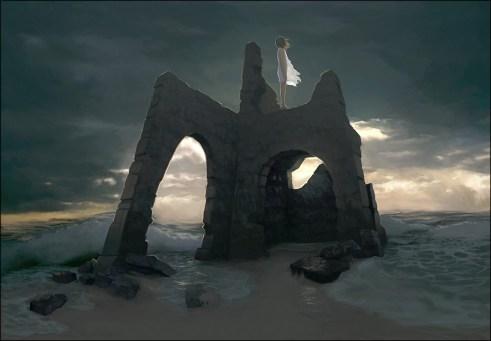 fille bord de mer