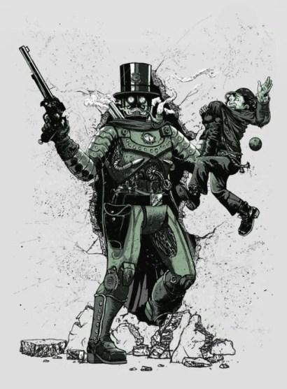 robocop steampunk par georges le mercenaire