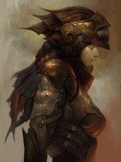 steampunk chevalier femme